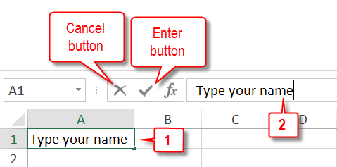 enter into excel formula bar