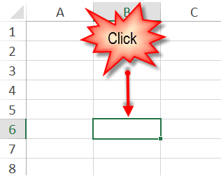 move around excel -- click
