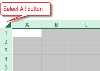 Select entire worksheet