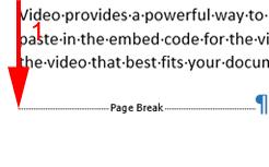 page break delete