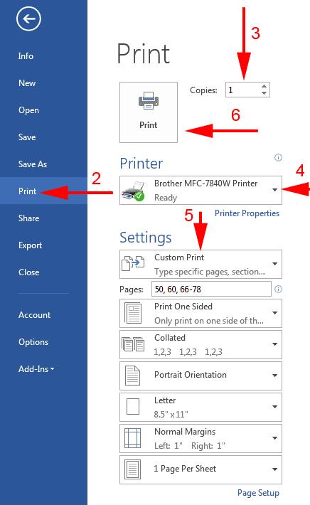 print word document