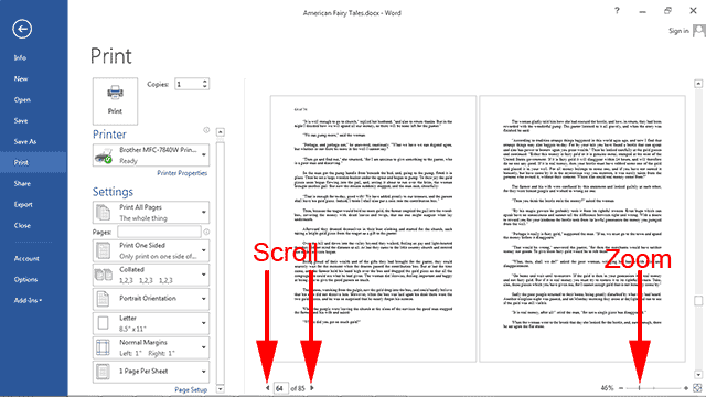 print word document