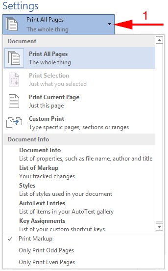 print word pages