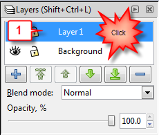 Inkscape: Rename layer step 1