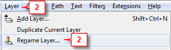 Inkscape: Rename Layer step 2