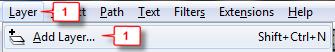Inkscape: Add layer step 1