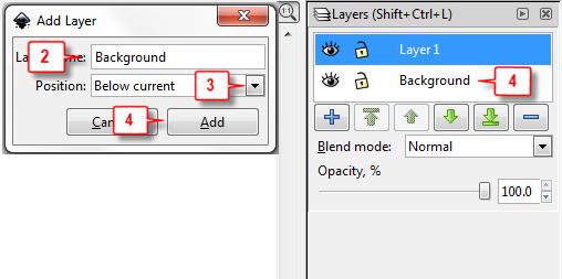 Inkscape: Add layer steps 2-4