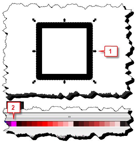 Inkscape: Change fill color steps 1 & 2