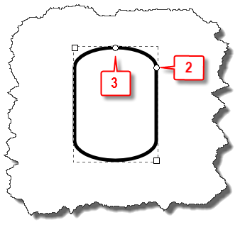 Inkscape: Rectangle with an elliptical top
