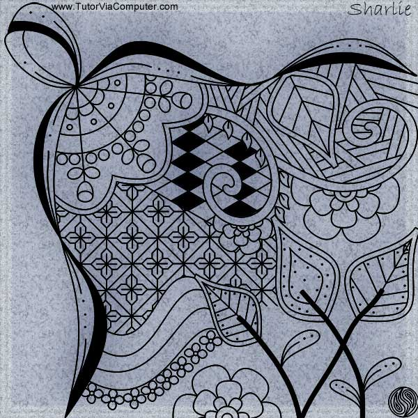 Zentangle: Ribbons and Flowers