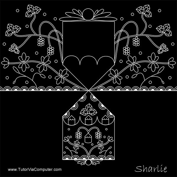 Zentangle: White on Black