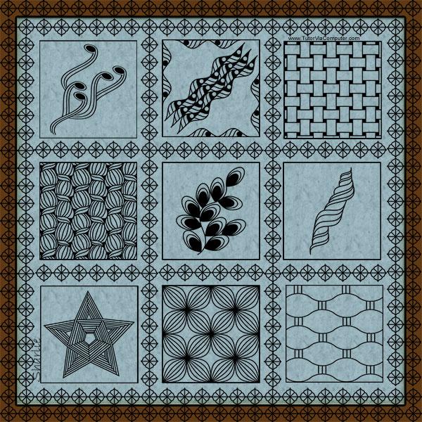 Zentangle: Inktober sampler
