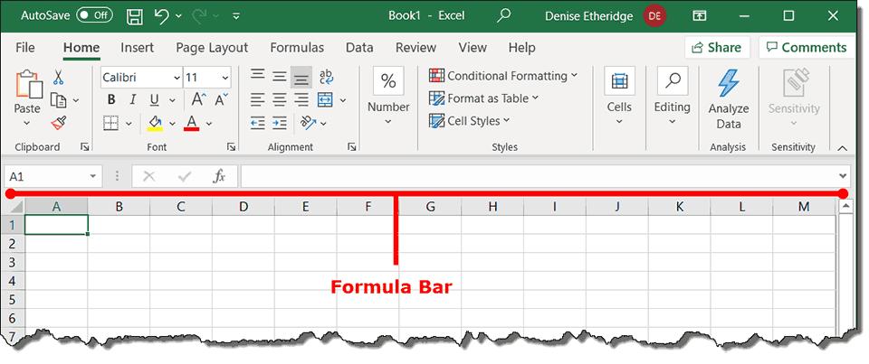 formula bar